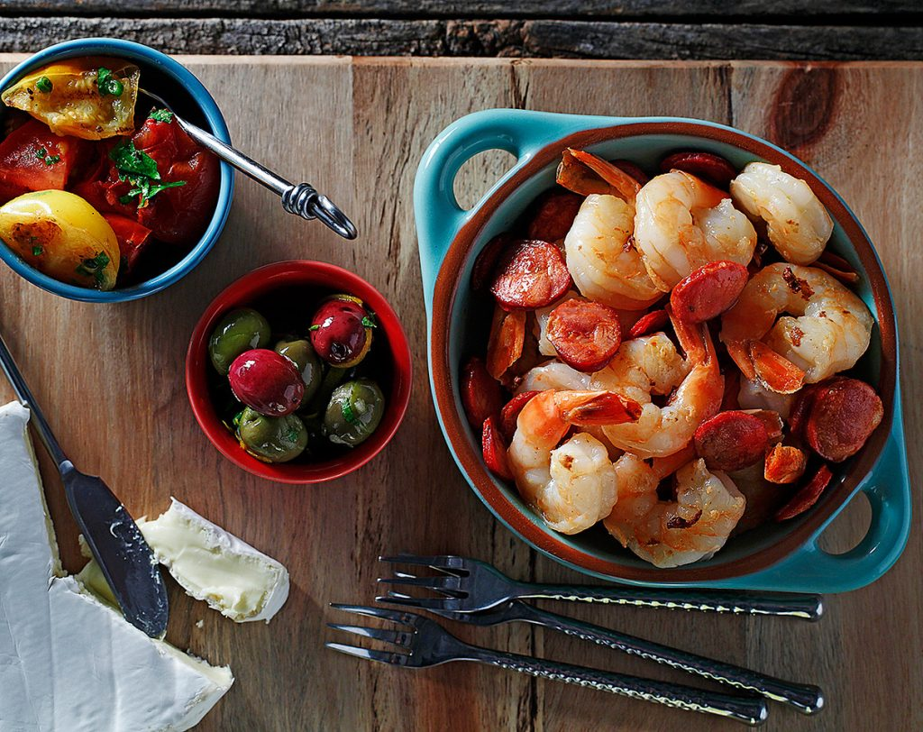 Chorizo and Garlic Shrimp