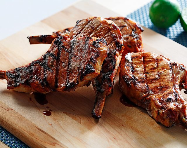 Honey and Lime Marinated Pork Chops