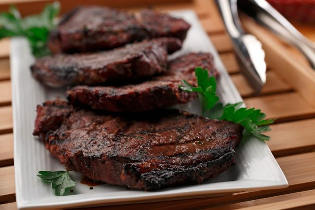 Horseradish and Grainy Dijon Marinated Steak