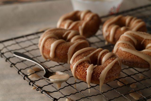 Baked Maple Doughnuts