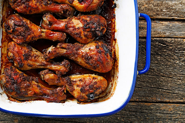 Jamaican Me Crazy Roasted Chicken Drumsticks