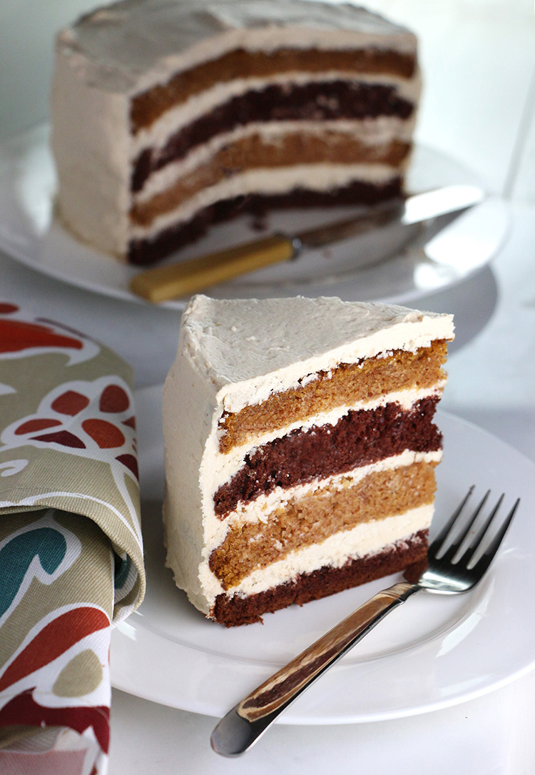Pumpkin & Chocolate Layer Cake With Whipped Brown Sugar Frosting ...