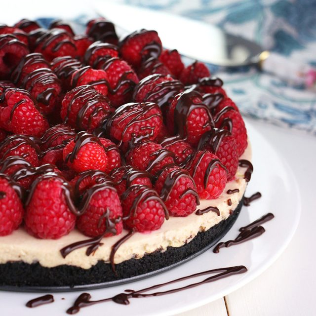 Raspberry and White Chocolate Mascarpone Tart