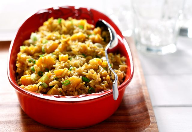 Basmati Rice with Cumin Flavoured Squash