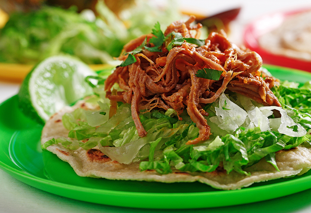 Pulled Pork with Smoked Paprika Lime Oil | www.canolaeatwell.com