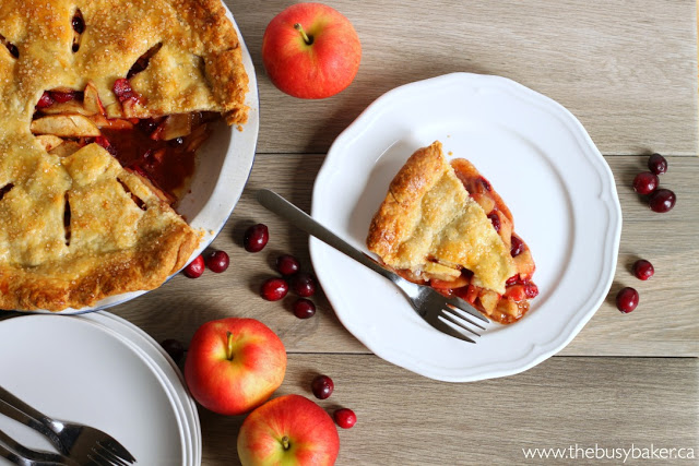 Cranberry Apple Pie made with canola oil pastry from Chrissie Baker