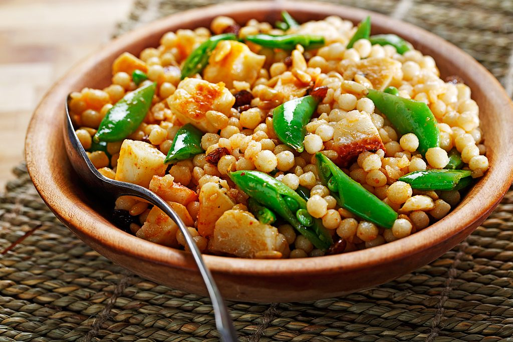 Israeli Couscous Salad with Curry Dressing