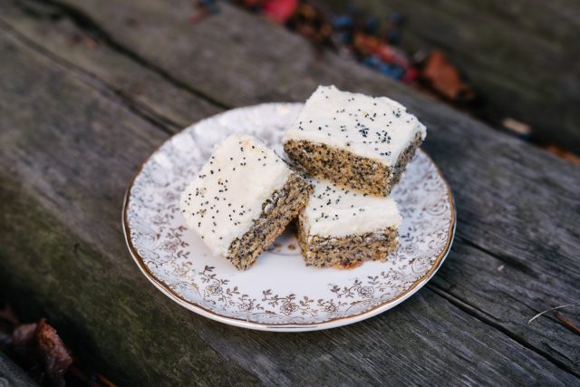 Poppy Seed Bars with Citrus Icing