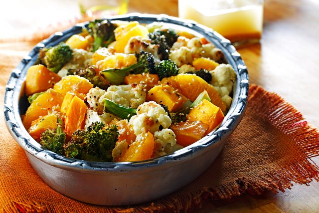 Roasted Butternut Squash Salad with Ginger & Soy Dressing
