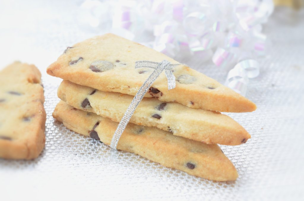 Chocolate Chip Orange Shortbread