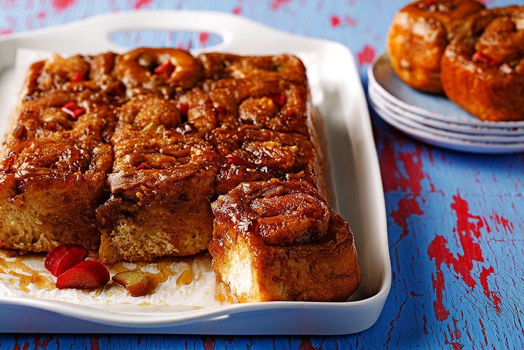 Rhubarb Cinnamon Buns