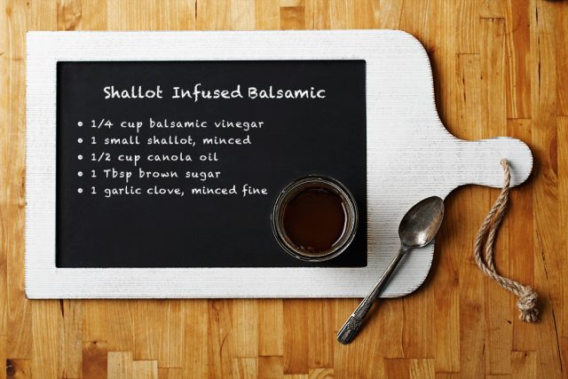 Shallot Infused Balsamic Dressing