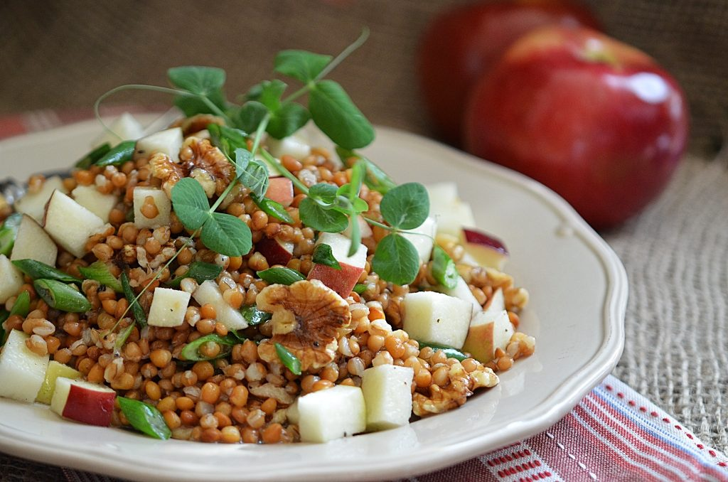Wheatberry and Lentil Salad