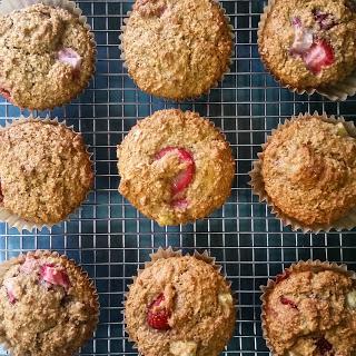 Strawberry-Banana Bran Muffins