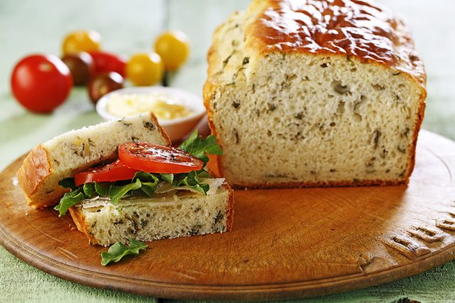 Quick Basil Bread