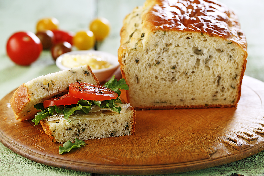 Quick Basil Bread Eat Well
