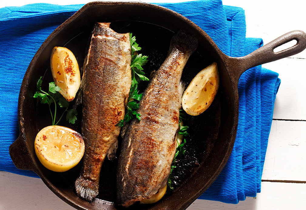 Traditional Pan Fried Trout