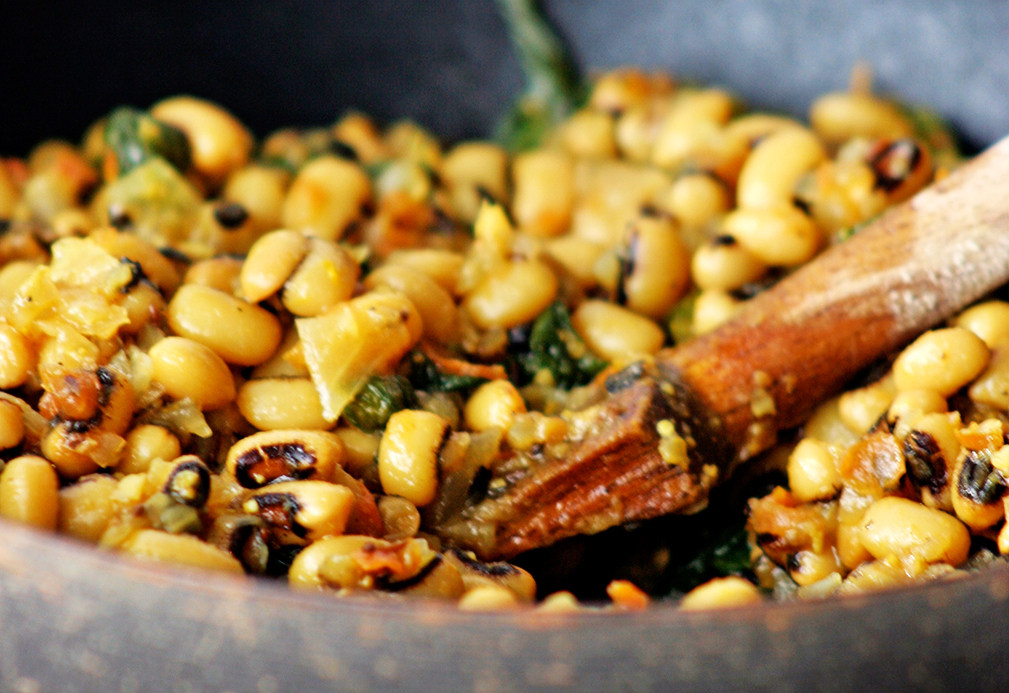 Black Eyed Peas With Mustard Greens Eat Well