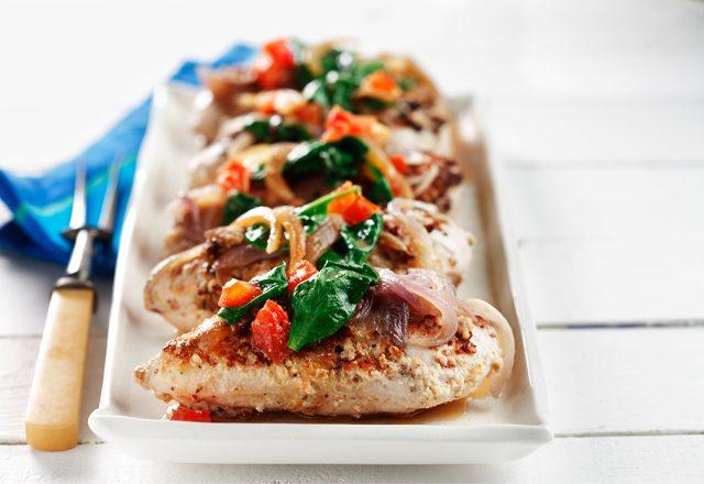 Chicken with Cashew Spinach Sauce
