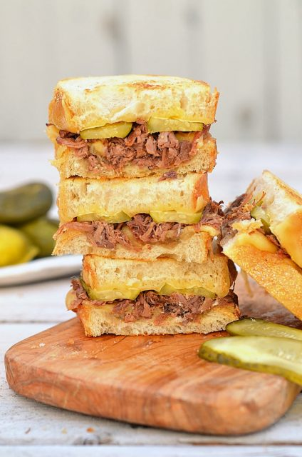 Beef Brisket and Gouda Grilled Cheese