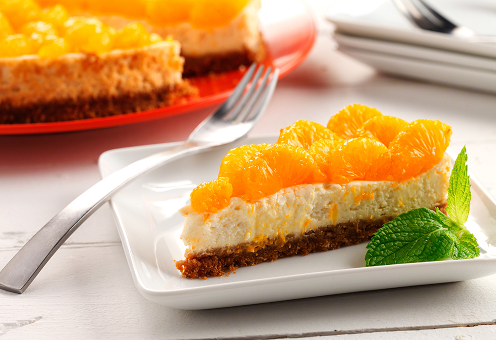 Lemongrass Cheesecake With Mandarin Orange Garnish Eat Well