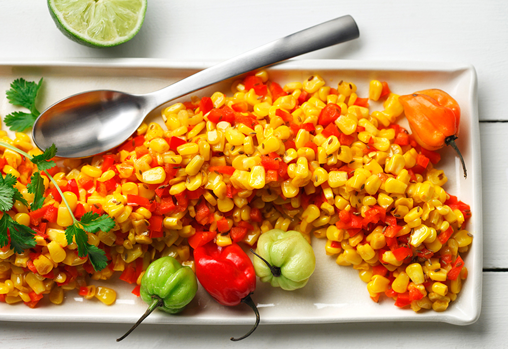 Sweet Corn with Habanero Chiles and Lime