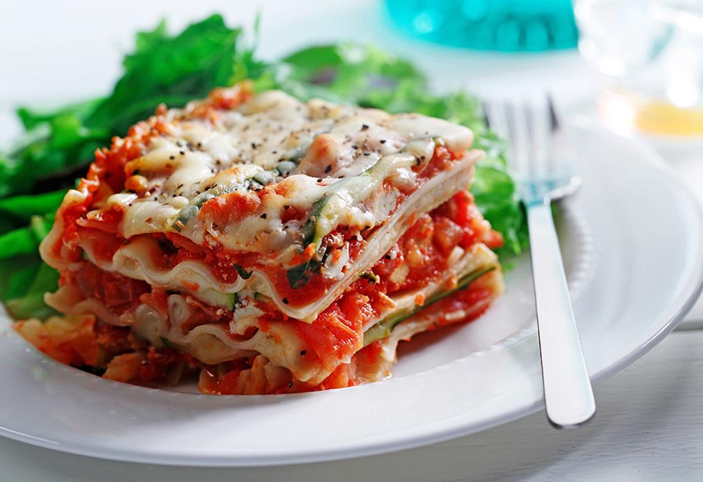 Tomato, Basil and Zucchini Lasagna – Eat Well