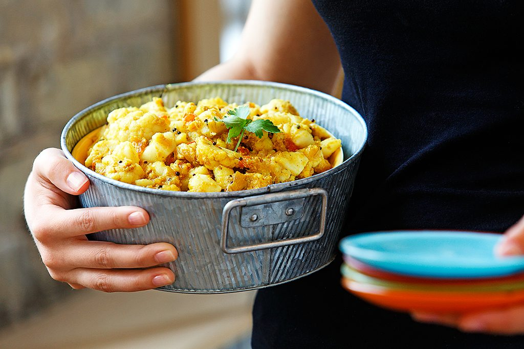 Indian Spiced Potatoes and Cauliflower