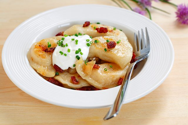 Beet and Asiago Cheese Pierogies
