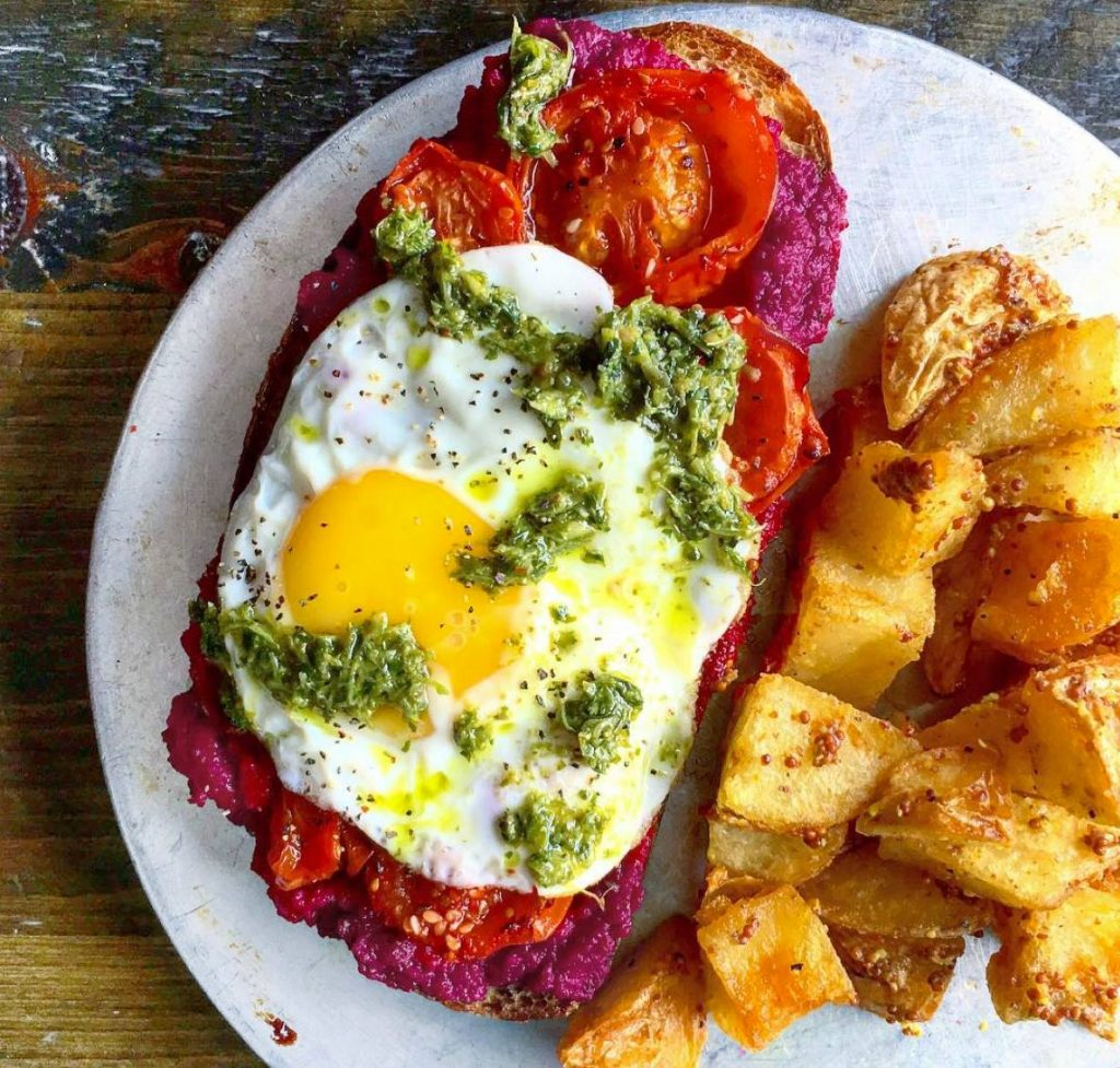 Beet and Roasted Tomato Toast