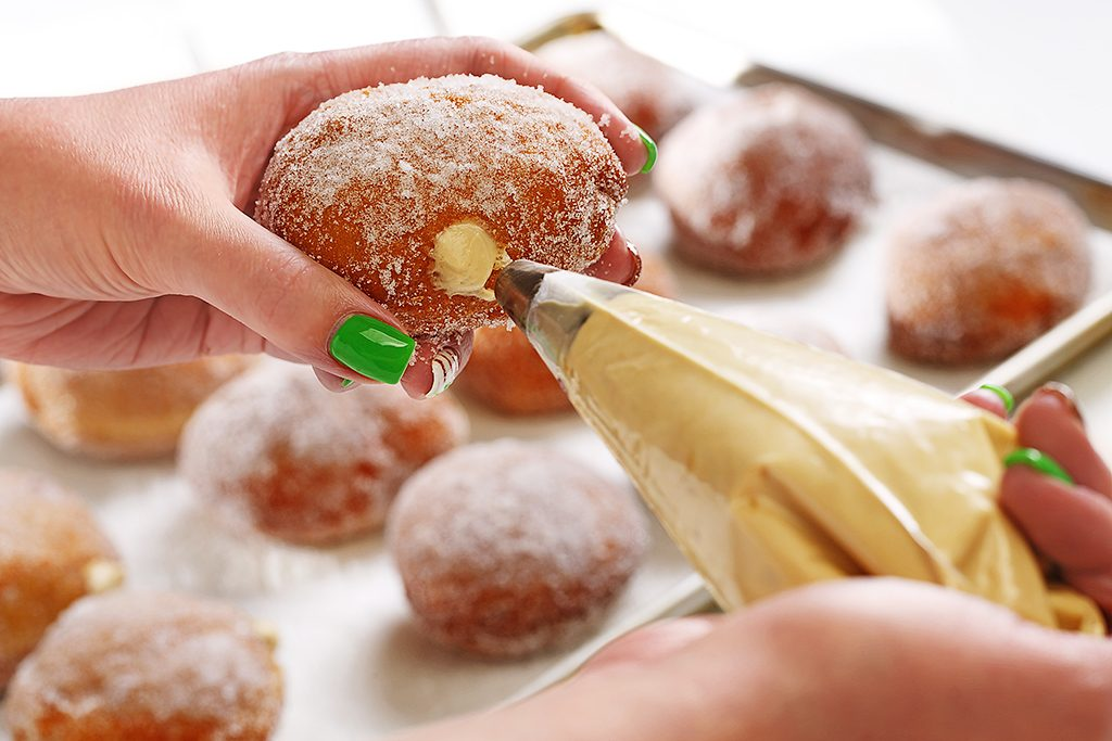 Pumpkin Spice Filled Incredible Baked Doughnuts