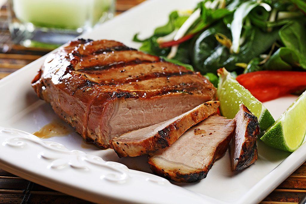 BBQ Vietnamese Pork Chops with Fresh Salad