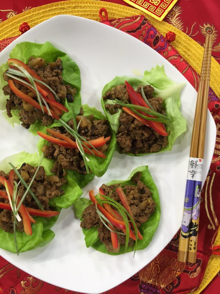 Lucky Chicken Lettuce Wraps
