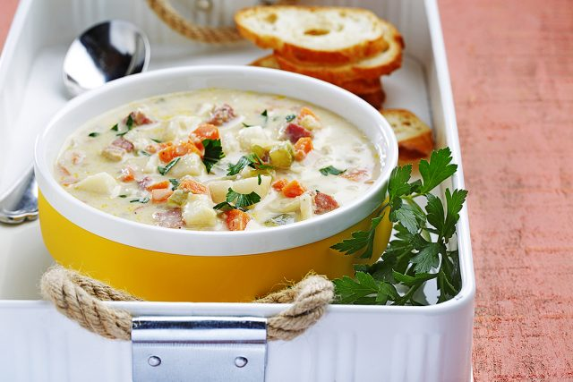 Root Vegetable and Hummus Soup