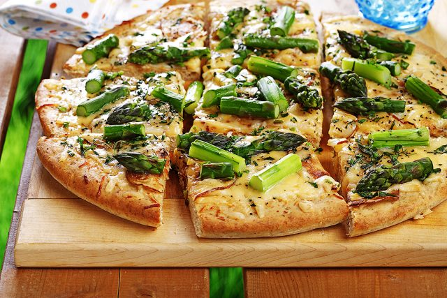 Asparagus, Potato & Tarragon Pizza