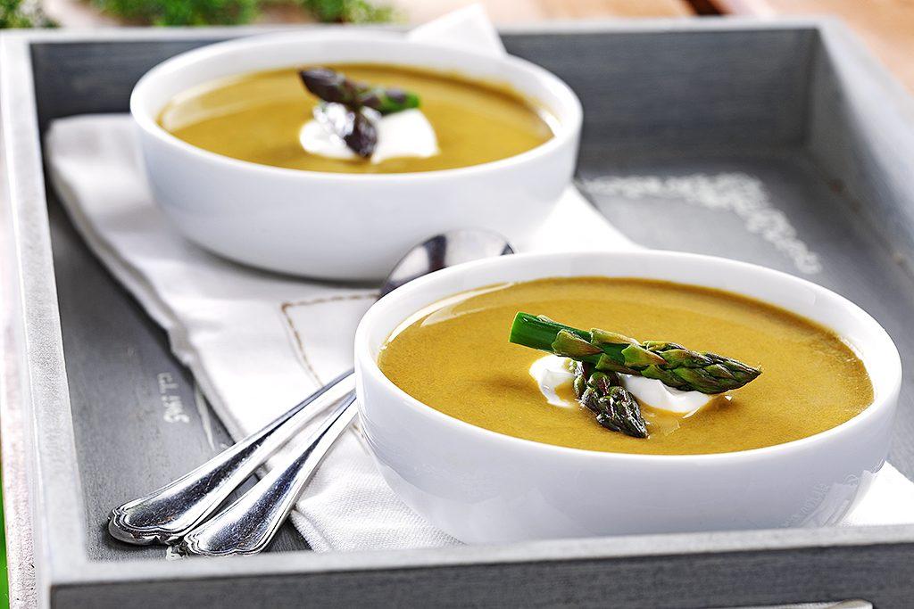Asparagus, Watercress & Leek Soup