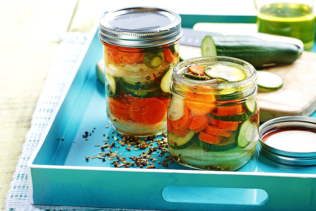 Quick Marinated Pickles
