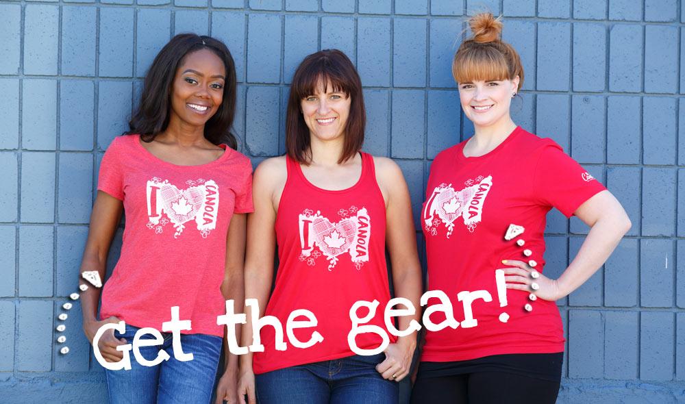 Canada150 I Heart Canola t-shirts