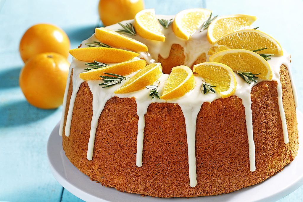 Orange Rosemary Chiffon Cake