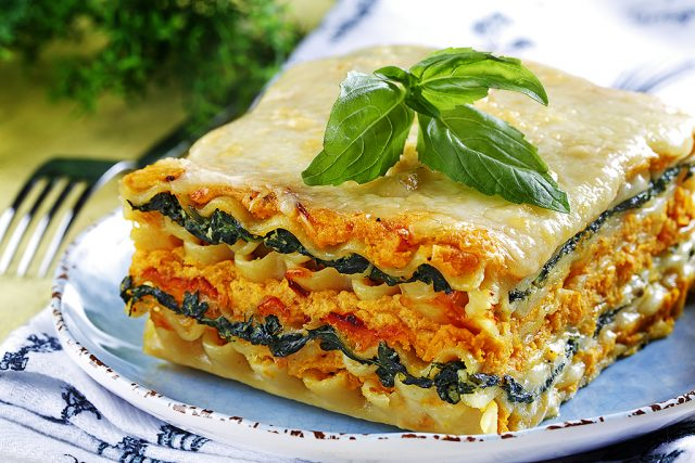 Spinach and Butternut Squash Lasagne