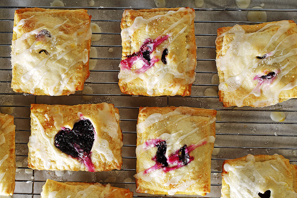 Blueberry Lemon Hand Pies with Lemon Glaze