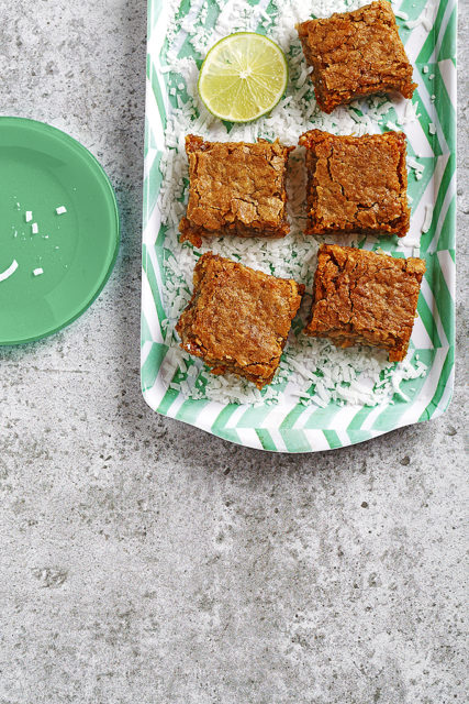 Chewy Coconut-Lime Blondies
