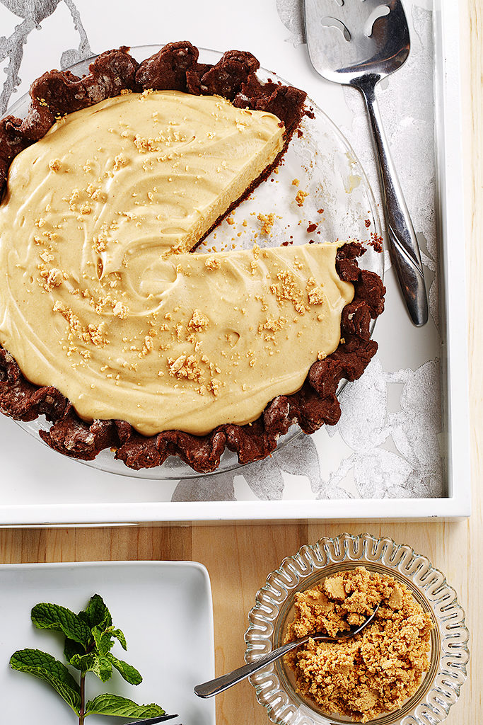 Creamy Peanut Butter Pie with Chocolate Pastry