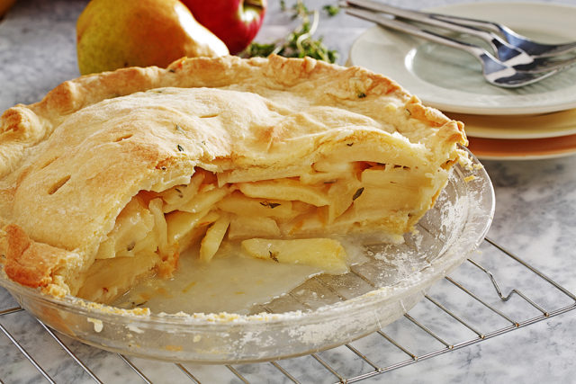Lemon and Thyme-Scented Apple and Pear Pie