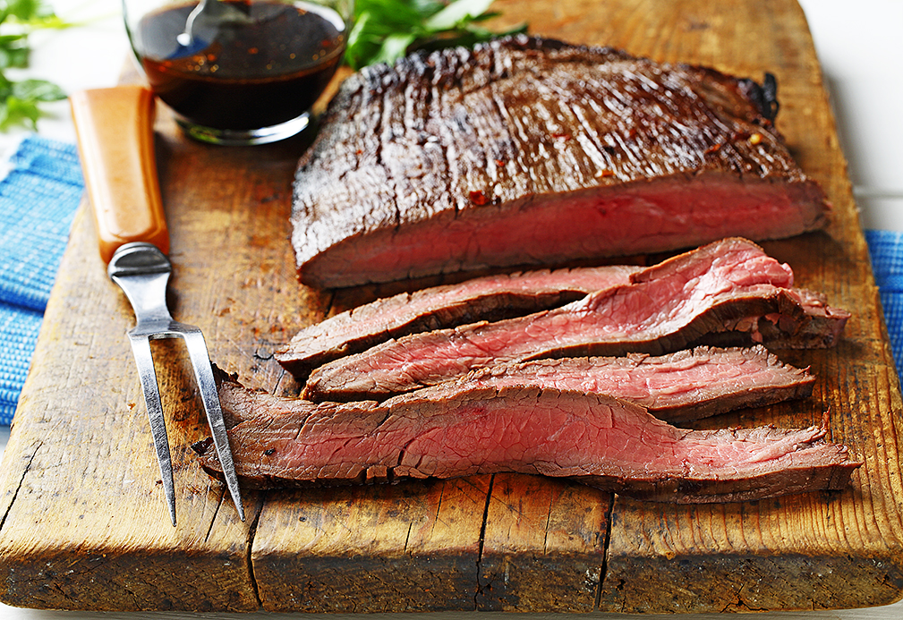 Flank Steak with Soy-Lime Reduction