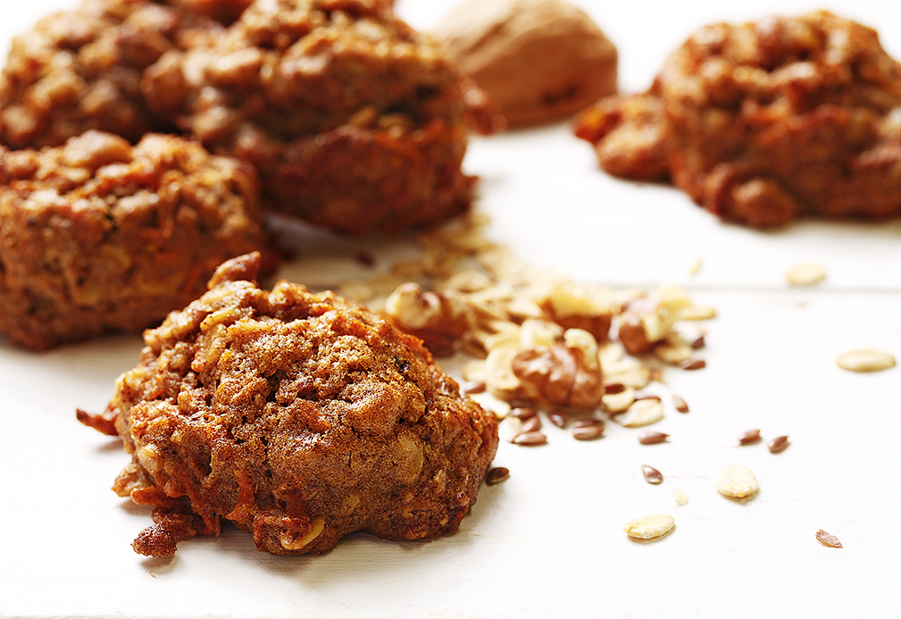 Walnut and Flax Carrot Cookies