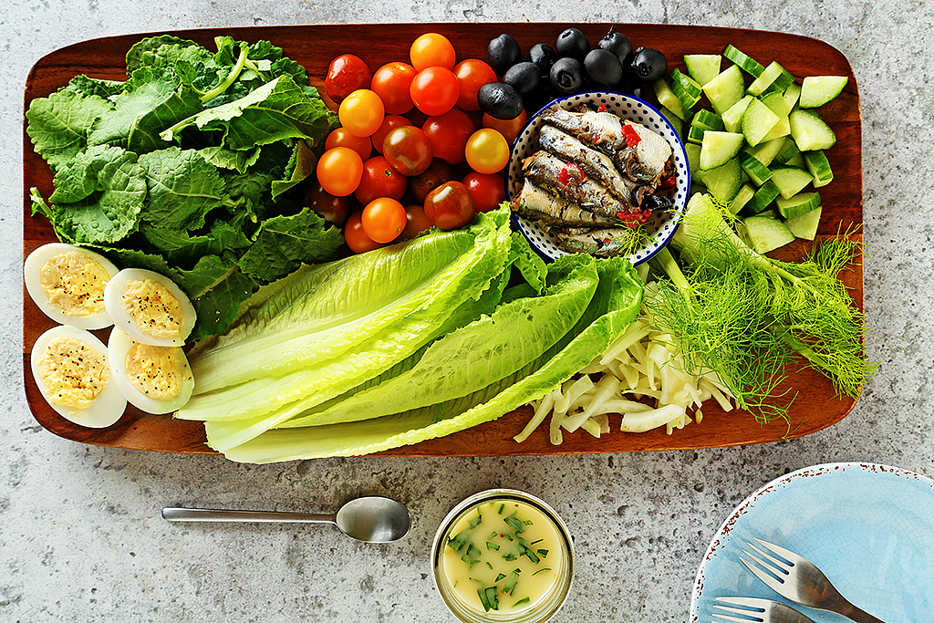 Chopped Salad with Dressing