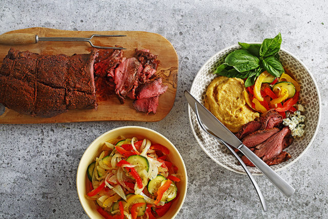 Balsamic Beef with Polenta