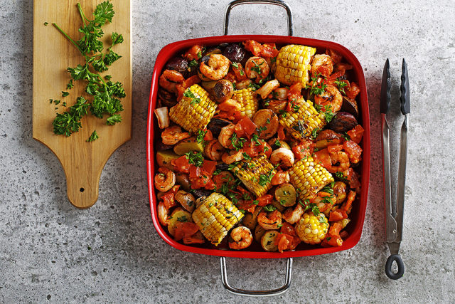 Grilled Shrimp and Corn Casserole