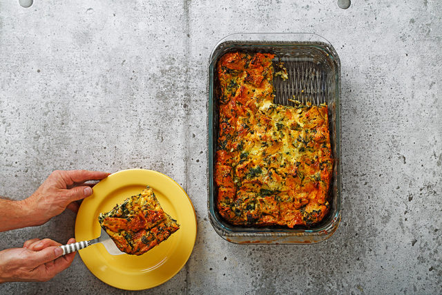 Overnight Spinach and Cheese Strata